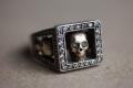 HD Custom jewelery anello Trilogy teschi03