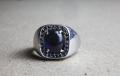 HD Custom jewelery anello scudo zaffiro03