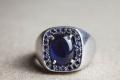 HD Custom jewelery anello scudo zaffiro04