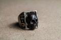 HD Custom jewelery anello teschio in meteorite01