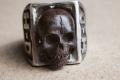 HD Custom jewelery anello teschio in meteorite07