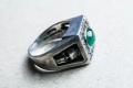 HD Custom jewelery anello teschio smeraldo03
