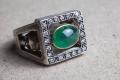 HD Custom jewelery anello teschio smeraldo07