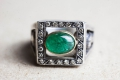 HD Custom jewelery anello teschio smeraldo09