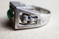 HD Custom jewelery anello teschio smeraldo10