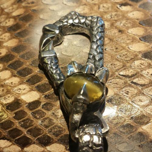 HD Custom Jewelry NEWS- portafoglio in pitone con catena in argento - 03