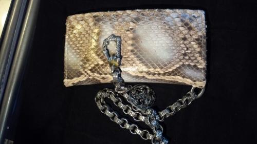 Huge Dragon Custom Jewelry - portafoglio in pitone con catena in argento - 01