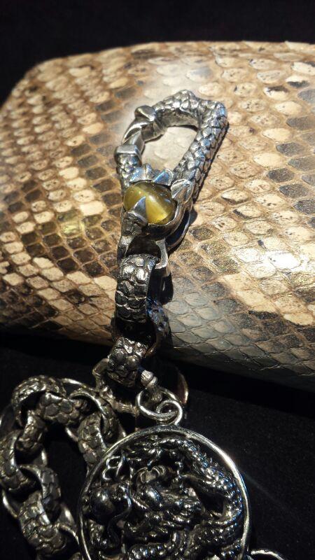 Huge Dragon Custom Jewelry - portafoglio in pitone con catena in argento - 05
